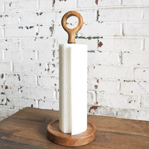 Acacia Wood Paper Towel Holder