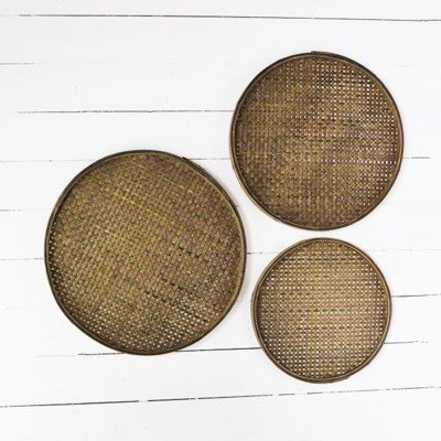 Bamboo Sifting Trays | Round Basket