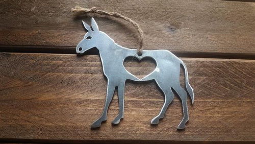 BE Creations & Designs, Inc. - Donkey Christmas Ornament with Heart