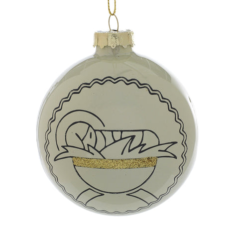Baby Jesus Glass Ornament
