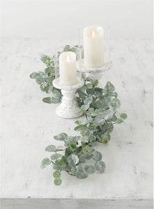 Concrete Pillar candle holder with Glass votive
