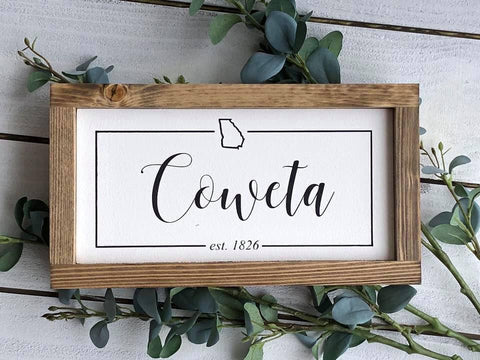 "Coweta Sign | 12""x 6"""