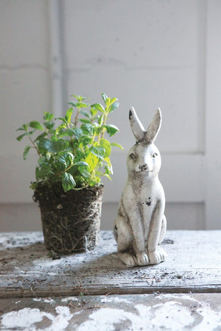 Ceramic Rabbit Distressed