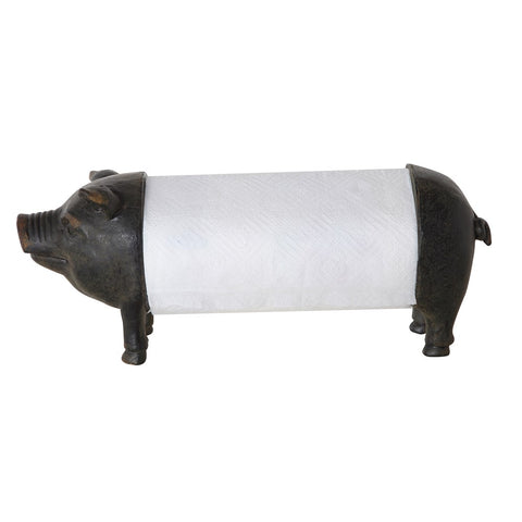 Resin Pig Paper Towel Holder