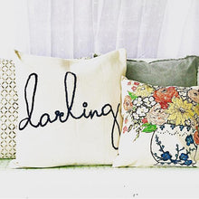 Embroidered Darling Pillow