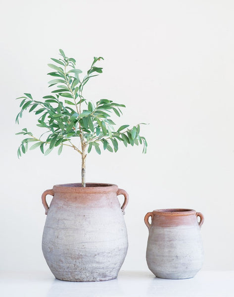Faux Olive Tree in Terra-cotta Pot