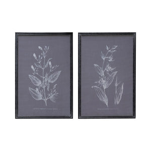 Wood Framed Printed Screen Wall Decor