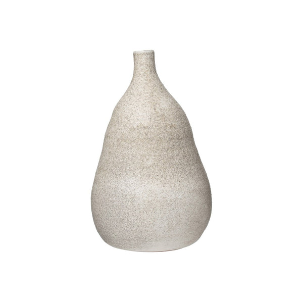 Terra-cotta Vase I Distressed Cream Glaze