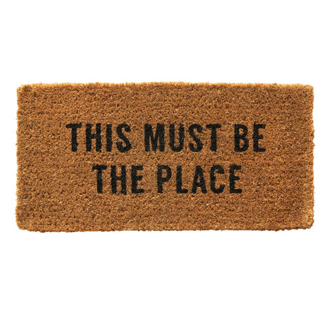 "Natural Coir Doormat ""This Must Be The Place"""