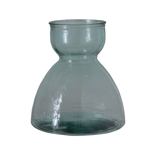 "8.5"" Round x 9""H Recycled Glass Vase"