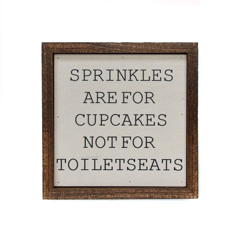 Sprinkles Are For Cupcakes Boys Bathroom Sign