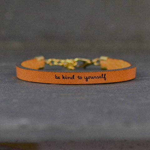 Be kind to yourself - Leather Bracelet