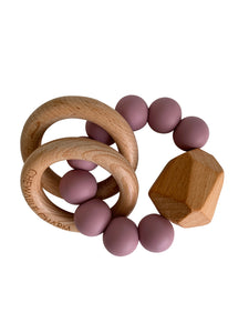 Chewable Charm - Hayes Silicone + Wood Teether - Gem