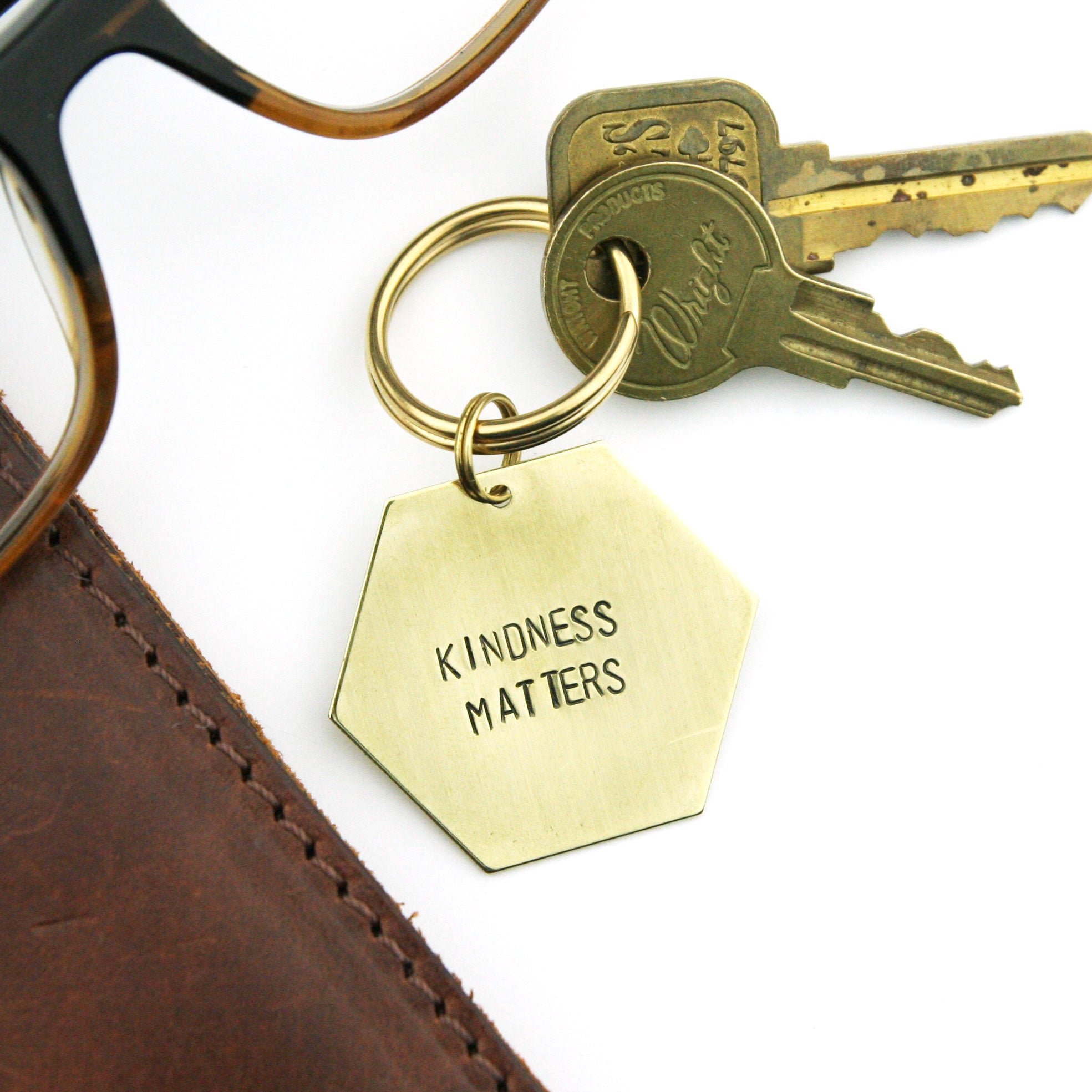 Peachtree Lane - Kindness Matters - Stamped Keychain