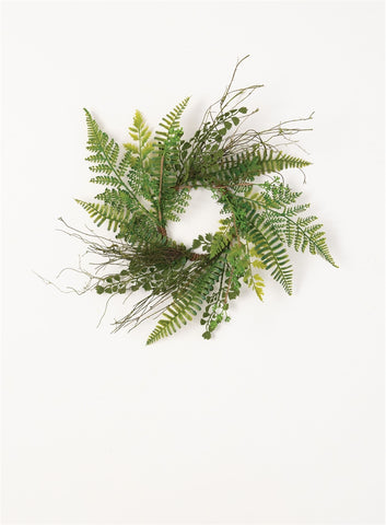 Mix Fern Accent Ring Wreath