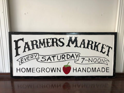 Farmers Market Strawberry Sign