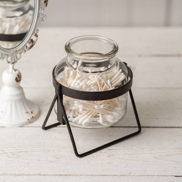 Glass Jar with Stand