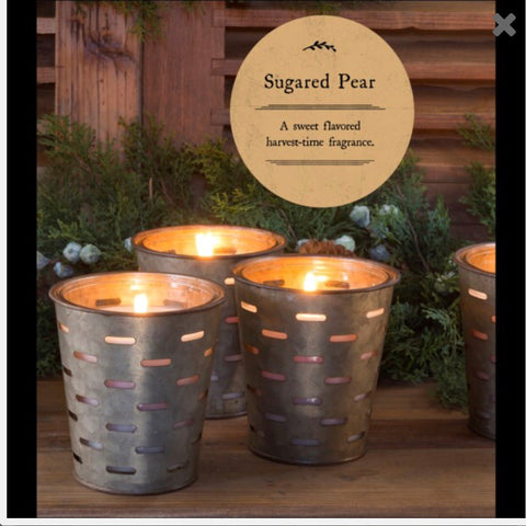 Sugared Pear Olive Bucket Candle