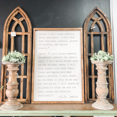 CS Lewis Wooden Sign