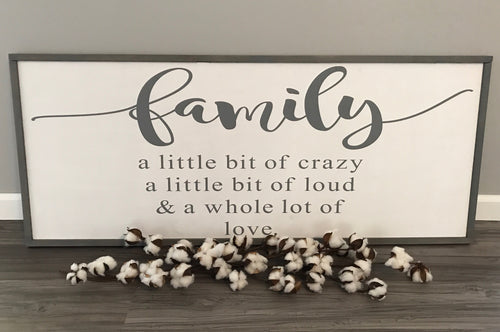 Family Framed Hand painted Sign