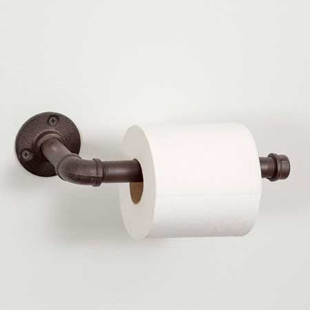 Industrial Bar Toilet Paper Holder
