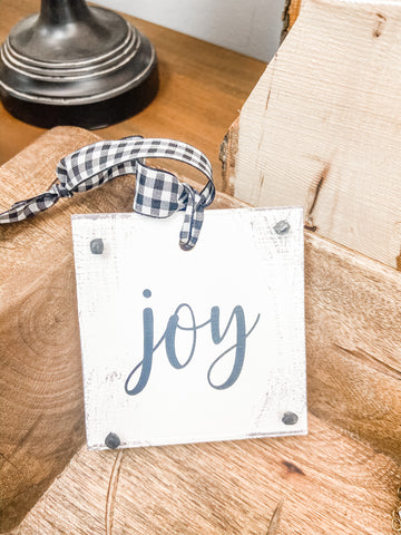 Distressed Block Ornament | 6 Styles