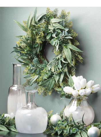 "26"" Farmhouse Eucalyptus Wreath"