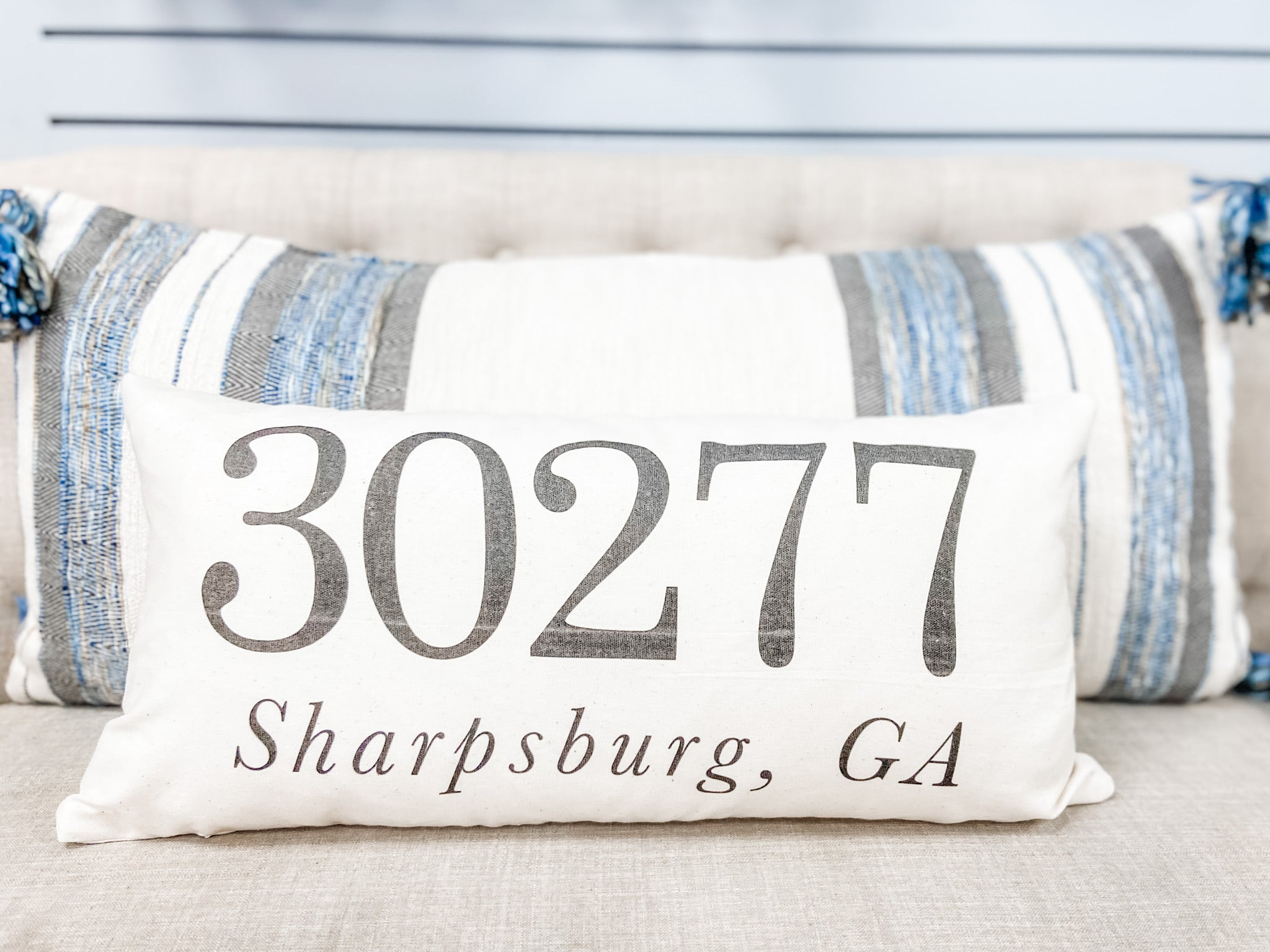 30277 Sharpsburg, GA Zip Code Lumbar Pillow