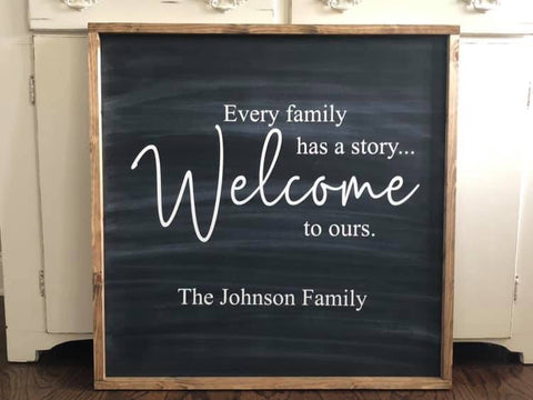 "Custom Welcome Sign 24""x24"""