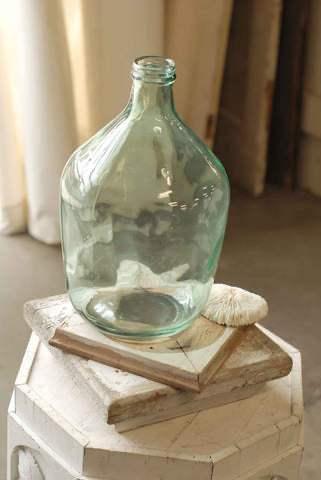 Blush Blue Bottle Vase