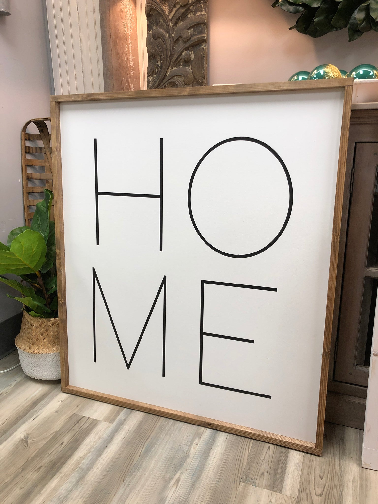 Large HOME sign