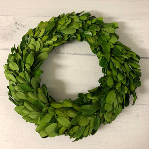 "8"" Preserved Boxwood Wreath"