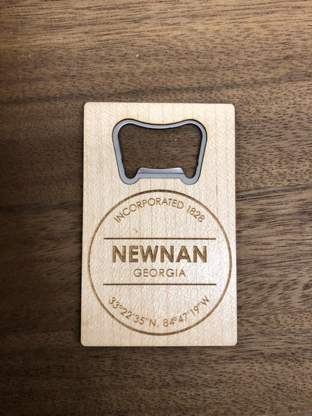 Wooden and Metal Bottle Opener - Newnan