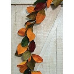 Fall Magnolia Leaves Garland