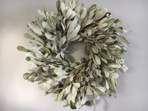 "17"" Dried Mountain Sage Natural Wreath"