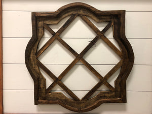 Four Corner Wooden Window | 2 colors