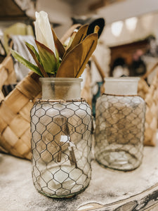 Chicken Wire Wide Mouth Jar