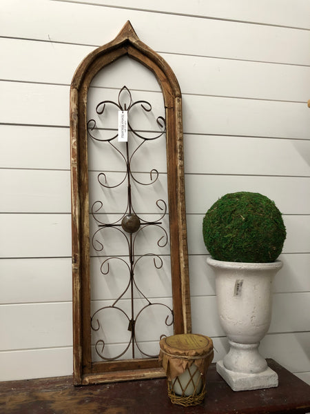"Large 38"" Wire Cathedral Window"