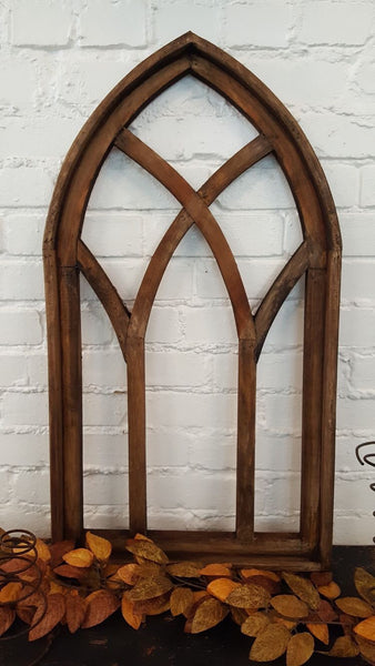 Traditional Wooden Church Arch Window