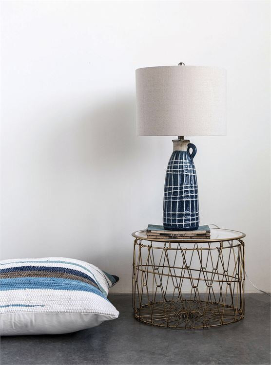 Blue Concrete Lamp