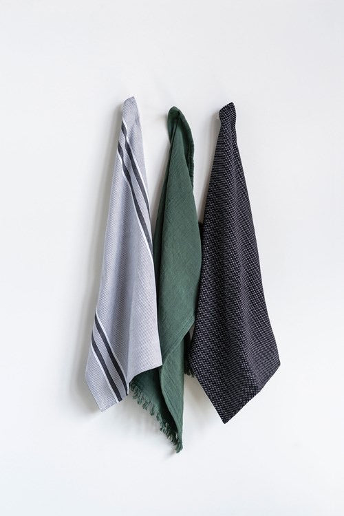 Cotton Tea Towel Set Of 3