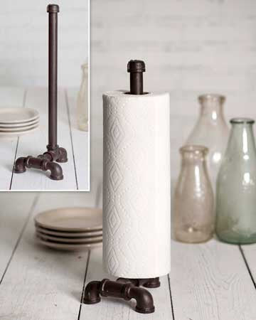 Industrial Pipe Tabletop Paper Towel Holder