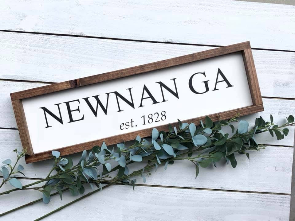 Newnan Georgia Wooden Sign