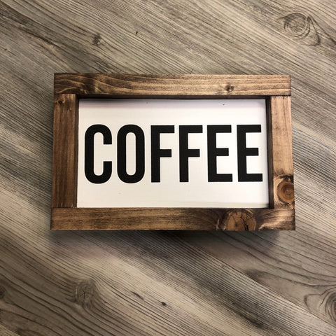 Coffee Framed Sign