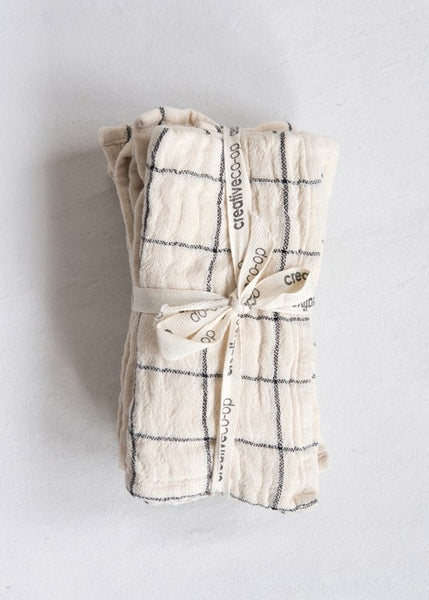 Woven Cotton Napkins | set/4 Towels