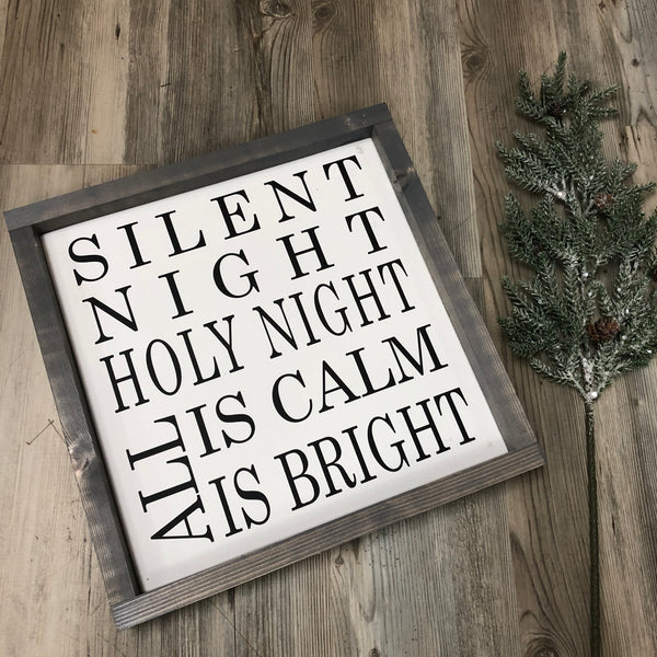 Silent Night Sign