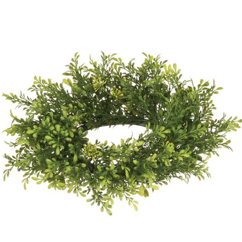 Tea Leaf Berry Candle Ring 4.25""