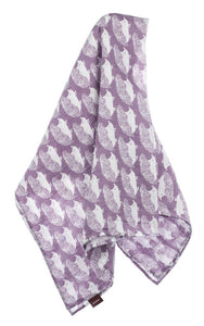 Milkbarn Baby Organic Cotton Swaddle Blanket - Lavender Hedgehog