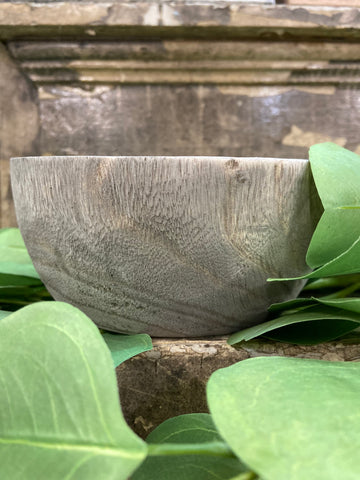 Wooden Round Bowl | Grey