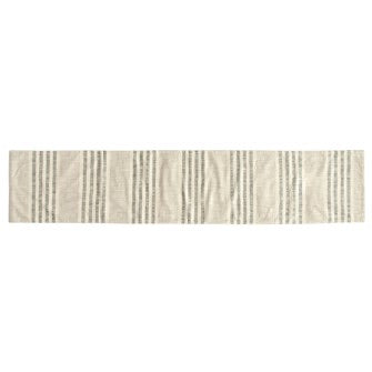 Woven Cotton Stripe Table Runner